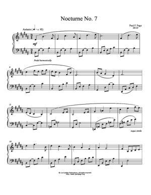 Sheet Music Nocturne No. 7