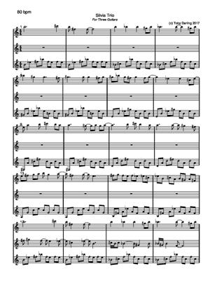 Sheet Music Silvia Trio