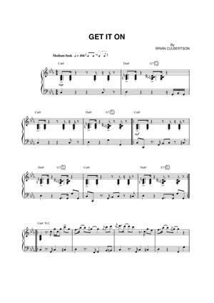 Sheet Music Brian Culbertson - Get It On