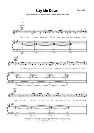 Sheet Music Sam Smith - Lay Me Down