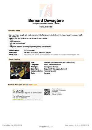 Sheet Music Rondeau
