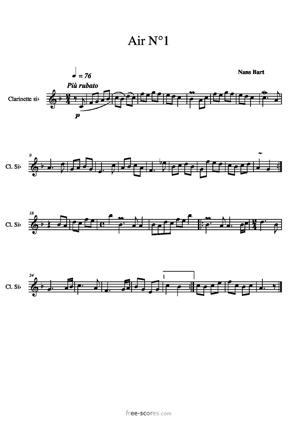 Sheet Music Aria N°1