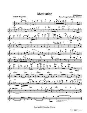 Sheet Music Méditation