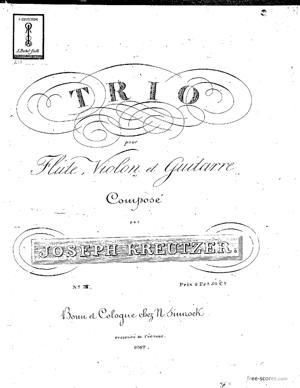 Sheet Music Trio No.3 for Flute, Violin and Guita