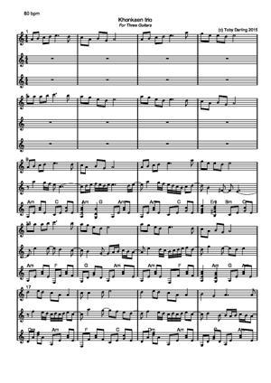 Sheet Music Khonkaen Trio