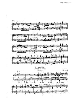 Sheet Music Habanera from Carmen