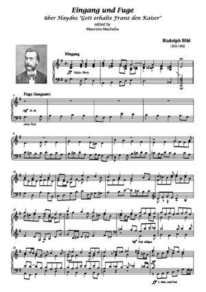 """Sheet Music Eingang und Fuge über Haydns """"Gott erhalte Franz den Kaiser"""""""