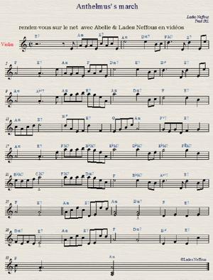Sheet Music anthelmus's march traditionnel irlandais abelle lades neffous