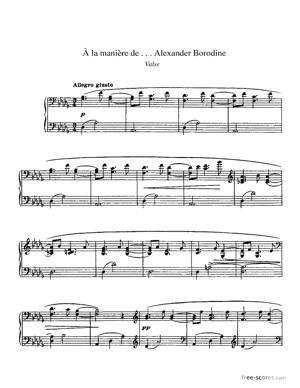 Sheet Music À la manière de Borodine