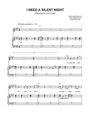 Sheet Music Amy Grant - I Need Silent Night