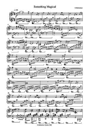Sheet Music Something Magical