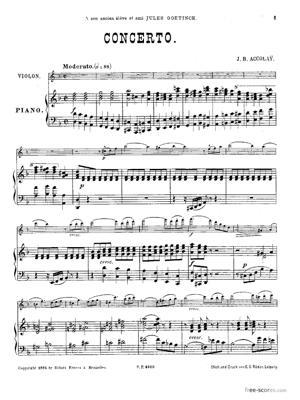 Sheet Music Violin Concerto in D Minor