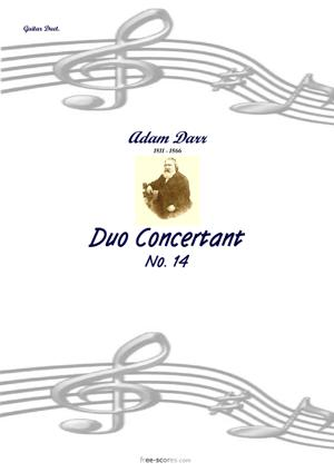 Sheet Music Duo14 Concertante