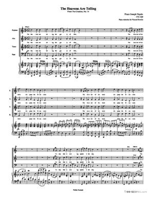 Sheet Music The Heavens Are Telling