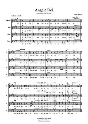 Sheet Music Angele Dei