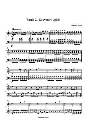 Sheet Music Etude n°2 : Deuxième partie sur cinq