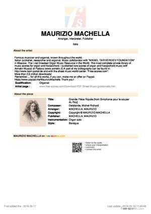 Sheet Music Grande Pièce Royale