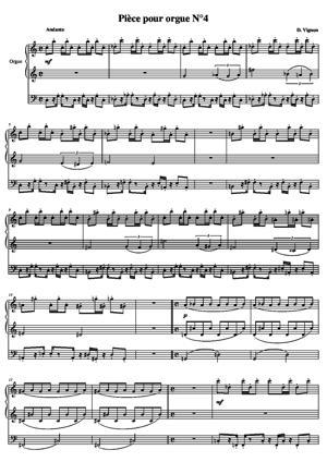 Sheet Music Piece for organ No. 4