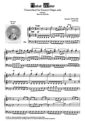 Sheet Music Stabat Mater (I Mov.) - Organ transcription