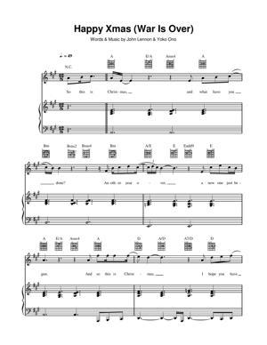 Sheet Music John Lennon - Happy Xmas War Is Over