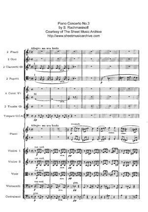 Sheet Music Concerto en ré mineur n° 3