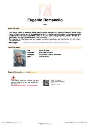 Sheet Music Eugenio Romanello - Magie de Noel