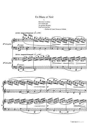 Sheet Music En Blanc et Noir