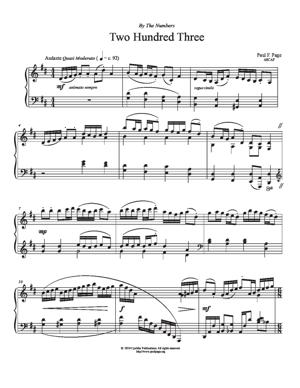 Sheet Music Two Hundred Three