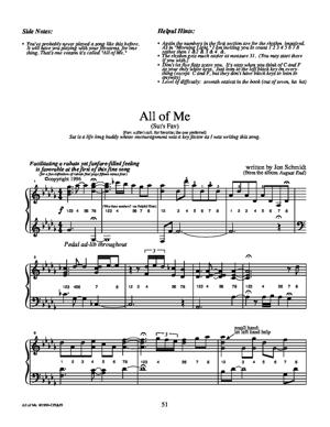 Sheet Music JON SCHMIDT - All of Me