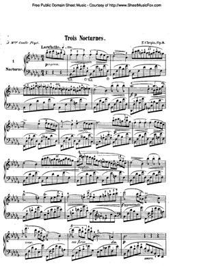 Sheet Music Chopin, Frédéric - Nocturne Op 9 No 2 (E Flat Major)
