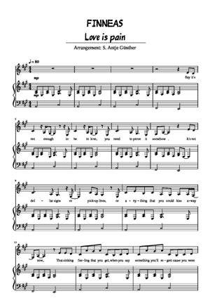 Sheet Music Finneas - Love is Pain