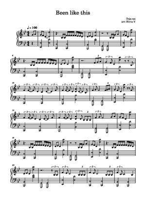 Sheet Music Doja Cat - Been Like This