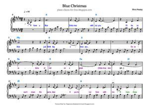 Sheet Music Elvis Presley - Blue Christmas